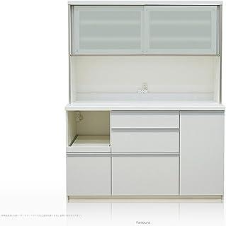 [高さ178cm] Pamouna(パモウナ) QFシリーズ QF-1400R 食器棚 [引き戸] (幅140cm, 奥行き50cm, プレーンホワイト)