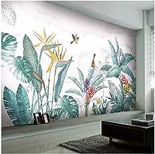 204378461 Muralo Papier Peint Feuilles Tropicales Fleurs Vinyle Tropicales Vintage Styl/é
