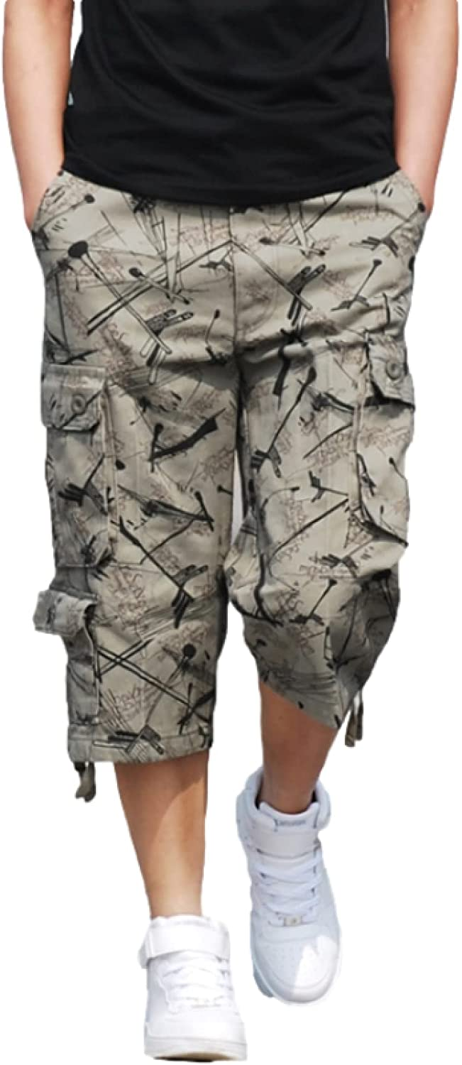 Men's Multi-Pocket Cargo Shorts Loose Straight Fashion Personality Trend Casual
