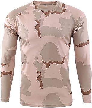 W&TT Camiseta táctica Militar para Hombre Camisa de ...