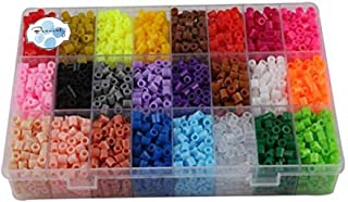 Beauenty 24 Color Perler Beads Children Educational jigsaw puzzle diy Toys Fuse Beads Pegboard