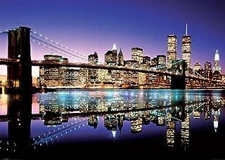 Pyramid America New York City Skyline-Brooklyn Bridge, Photography Giant Poster Print, 39 by 55-Inch