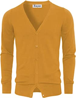 TAM WARE Men's Stylish Fashion V-Neck Button Up Cardigan