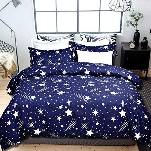 USTIDE Fashion Duvet Cover Star Print Duvet Cover Dreamful Soft Duvet Cover and Pillowcase Set Girls Boys Duvet Cover for Home Hotel King Size