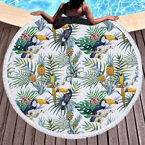 Toalla de Playa Redonda, Estera de Yoga Redonda Manto...