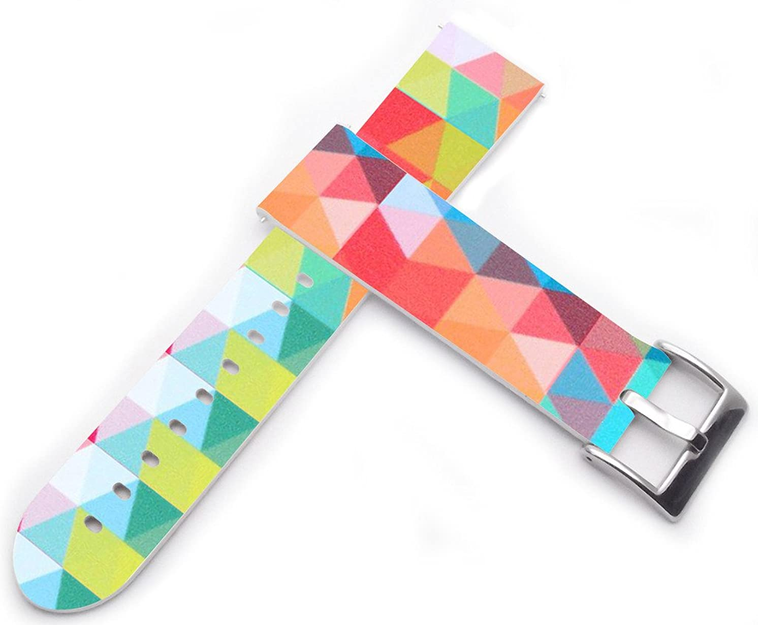Watch Strap 20mm - 20mm Watch Band Compatible with Moto360 2nd Gen Men's 42mm / Compatible with Samsung Gear S2 Classic/for Galaxy Watch 42mm / Gear Sport for Women Unique Design Rainbow Color