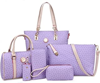 Handbags Women's Crossbody PU Leather Bag 6-piece