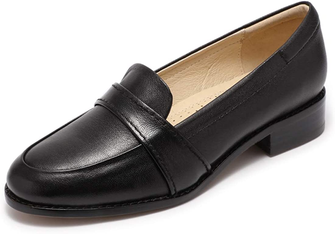 Mona New Las Vegas Mall product type flying Women's Leather Penny Loafers On L Slip Office Flats