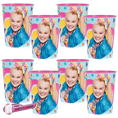 Unique 8 Count JoJo Siwa Party Cups | Birthday Party Favors for Kids | Officially Licensed 16 oz