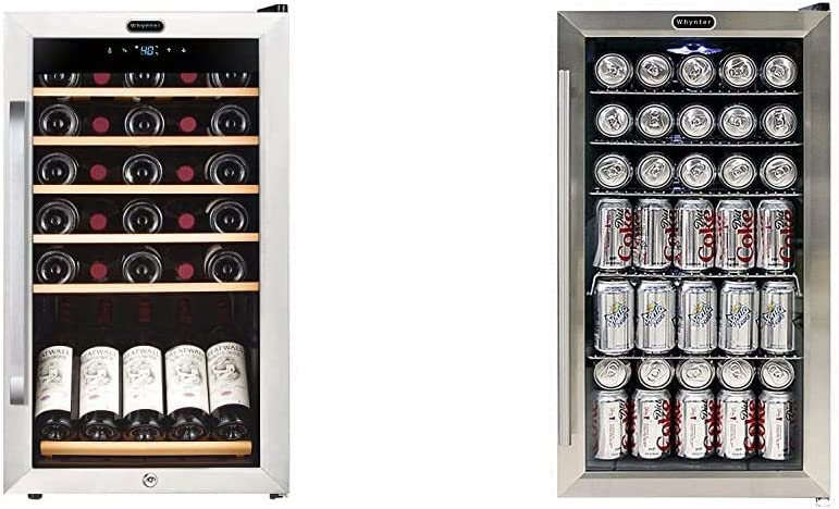 Industry No. 1 Whynter FWC-341TS 34 Bottle Wine Refrigerator 35% OFF with Freestanding