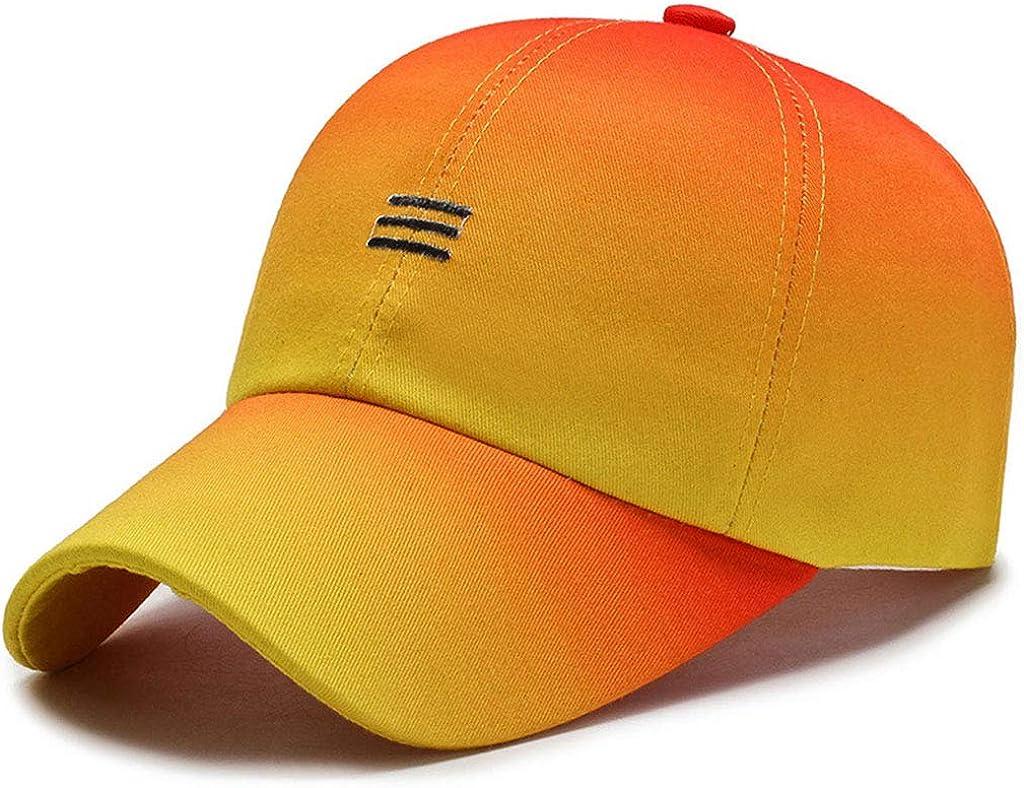 Beerty Baseball Cap for Women Men, Contrast Color Baseball Hat Striped Embroidered Sun Visor Hat Snapback Trucker Hat