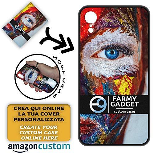 FarmyGadget Cover Personalizzata Morbida Soft TPU - Personalizzabile con Foto, Immagine, Testo, Loghi per Apple iPhone XR