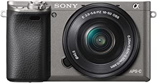 Sony ILCE-6000L E-mount Camera with APS-C Sensor + SELP1650 Lens Kit, Grey