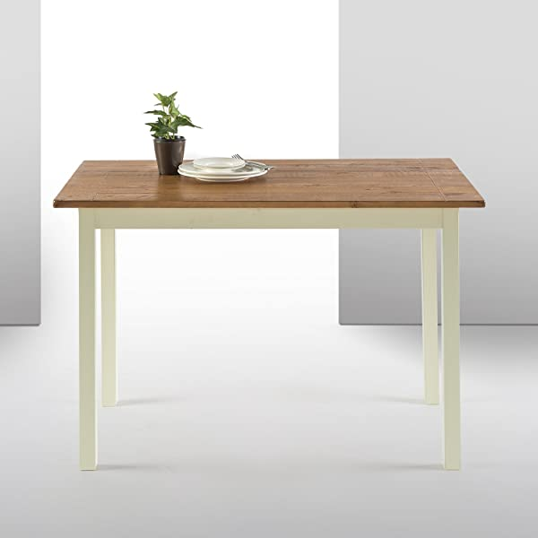 Zinus Becky Farmhouse Wood Dining Table Table Only