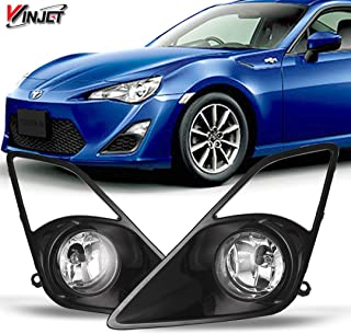 Winjet WJ30-0339-09 OEM Series for [2012-2016 Scion FR-S] Clear Driving Fog Lights + Switch + Wiring Kit