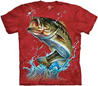 The Mountain Large Mouth Bass T Shirt - Adult Short Sleeve