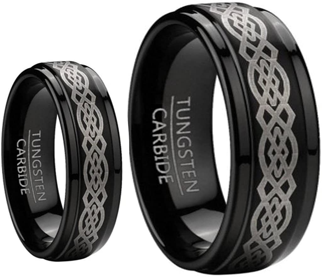 Ring for Men and Women 8MM Carbide At Ranking TOP20 the price of surprise Tungsten Black 6MM