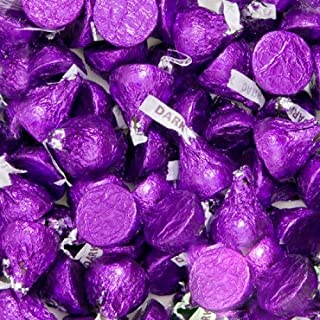 Hersheys Kisses Dark Chocolate Purple Wrapping 2 Pounds Approx. 200 Kisses