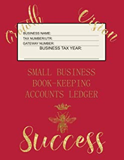 Small Business Book-Keeping Accounts Ledger: Large Book-keeping ledger for the small business and self-employed with words...