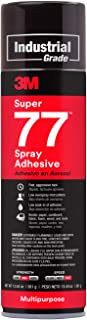 3M Super 77 Multipurpose Permanent Spray Adhesive Glue, Paper, Cardboard, Fabric, Plastic, Metal, Wood, 13.44 fl. oz. - 86234