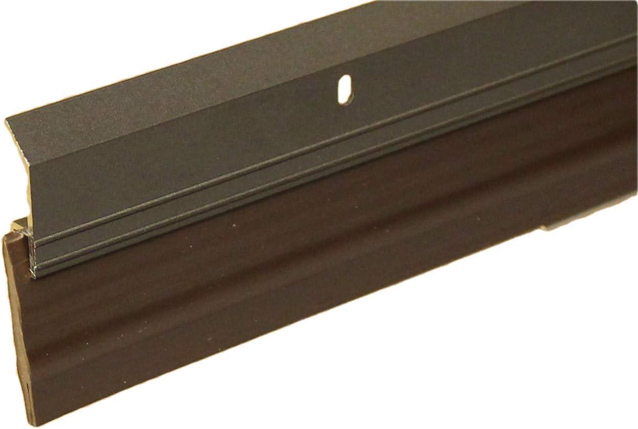 4 FT, Grey Heavy Duty Weight Aluminum with Long Vinyl Door Sweep