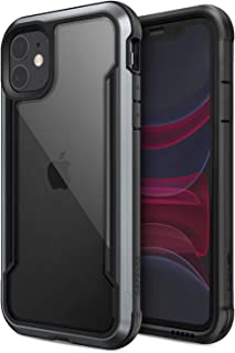 X-Doria Defense Shield Series, iPhone 11 Case - Military Grade Drop Tested, Anodized Aluminum, TPU, and Polycarbonate Protective Case for Apple iPhone 11, (Black)