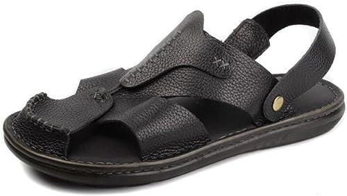 Sandales pour hommes Cuir Bout fermé Plage été Mode De plein air Taille 38 à 45