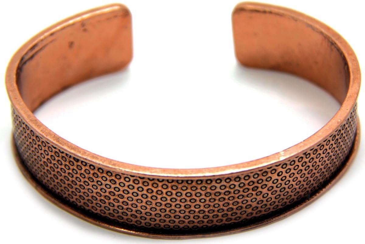 EK Success Create Your Style Metal Bangle Cuff 1/Pkg-Simple Texture Copper