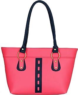 Fristo Women's Handbag (FRB-031, Pink and Blue)