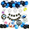 誕生日 飾り付けセット 男の子 バルーン 宇宙テーマ 宇宙飛行士風船 ロケット風船 HAPPY BIRTHDAYガーランド バースデー デコレーションセット