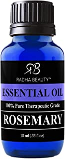 Radha Beauty Rosemary Essential Oil - 100% Pure Therapeutic Grade, Steam Distilled for Aromatherapy, Relaxation, Scalp Tre...
