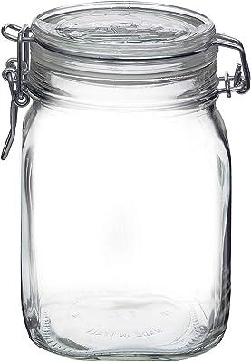 Bormioli Rocco Fido Round Clear Jar, 33-3/4-Ounce
