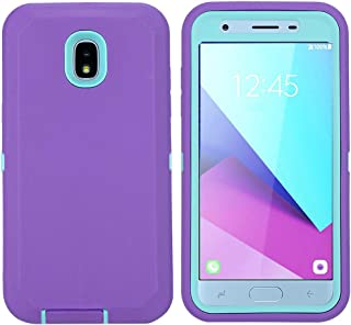 Aimoll-88 OnePlus 6T Case, Hybrid High Impact Resistant Rugged Full-Body Shockproof Tri-Layer Heavy Duty Case with [Built-in Screen Protector] & [Kickstand] for 1+ 6t (Purple/Mint)