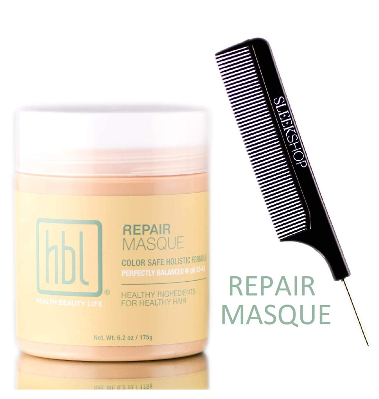 提唱する粘土キャベツHBL Health Beauty Life HBL修復MASQUE(スタイリストKIT)カラー安全なホリスティック式マスク、完璧なバランスの@ pHは3.5?4.5 6.2オンス/ 175グラム