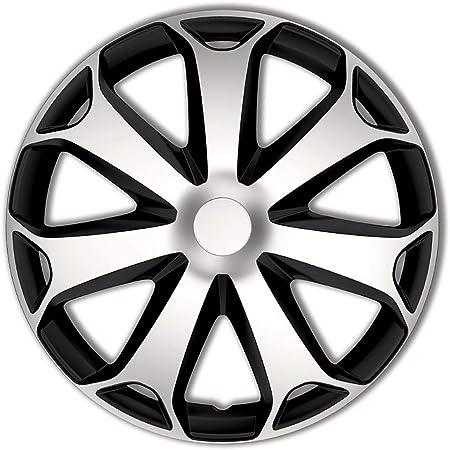 Satz Radzierblenden Mega 15 Zoll Silber Schwarz Auto