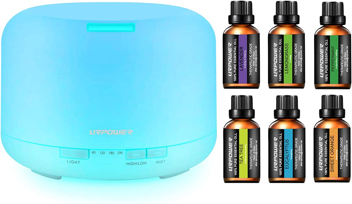 URPOWER Upgraded 500ML Essential Oil Credence Humidifiers with 2021 new Diffuser 6