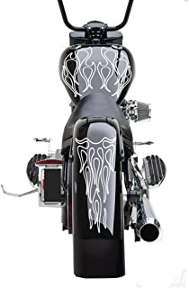 FGD Motorcycle Ghost Flame Set Gas Tank & Fender Decals Stickers (GFFS02) Universal