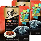 シーバ (Sheba) キャットフード デュオ 鶏ささみ味と海のセレクション 成猫用 240g×2個 (まとめ買い)