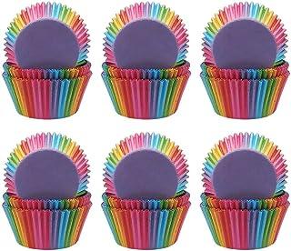 Bornfeel Caissettes Cupcakes Papier Arc En Ciel 600 Pièces pour Soirée de Mariage Cuisine Baking Dessert bricolage Anniver...