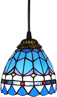 6 Inch Dining Room Kitchen Bedroom Stained Glass Chandelier High Quality