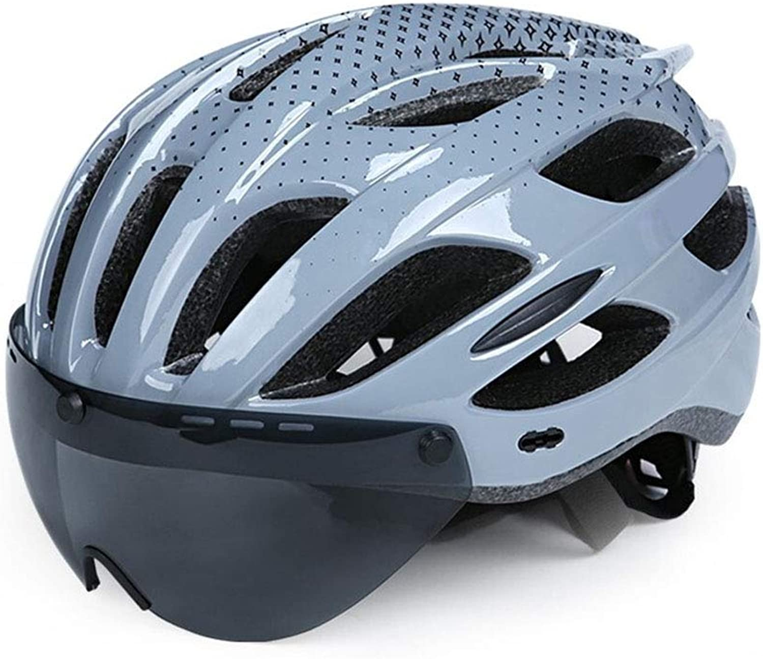 Cycling Helmet Integrated Bicycle Helmet Men and Women with Goggles Road Mountain Equipment Black