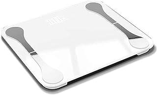 Báscula electrónica, báscula de baño de peso digital de alta precisión con tecnología paso a paso, que incluye cinta métrica volumétrica, pantalla retroiluminada 28st / 180kg / 400lb