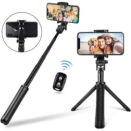 Extendable Tabletop Tripod Stand with Selfie Stick Monopod /& Bluetooth Remote. UBeesize Tripod Monopod Combo