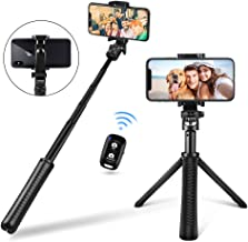 UBeesize Selfie Stick Tripod, Extendable and Portable Monopod with Wireless Remote Shutter, GoPro Adapter, Compatible with iPhone and Android Phone, Lightweight Camera, GoPro