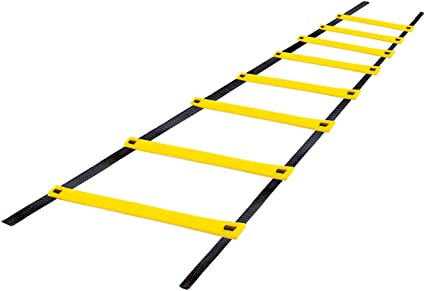 Amazon Com Durable Agility Ladder High Intensity Speed Ladder Best Football Drills Agility Equipment For Agility Training And More With A Carry Bag 4m 157 5 Inches 8 Rungs Sports Outdoors