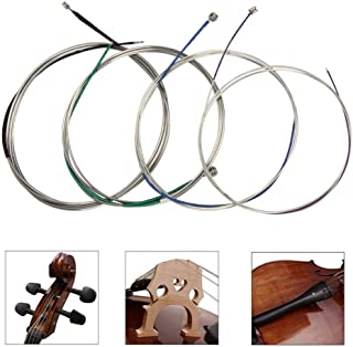 Cello strings Full Set (A-D-G-C) Universal Steel Core Nickel-Chromium Wound with Nickel-plated Ball End for 4/4 3/4 1/2 1/4 Cellos-Imelod