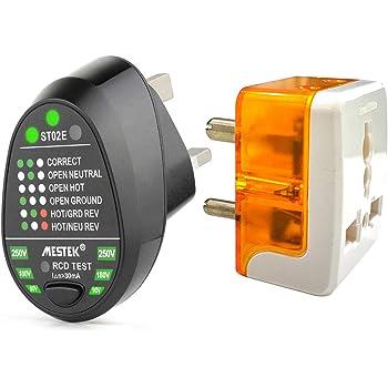 HABOTESE Advanced RCD Electric Socket Tester Automatic Neutral Live Earth U3V7