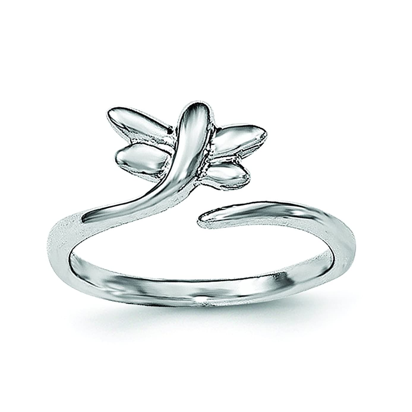 .925 Sterling Silver Dragonfly Toe Ring