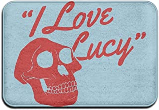 Hongclever Door Floor Mat Rug Anti-Skid Foot Pad I Love Lucy Water Absorption Doormats For Home Bathroom