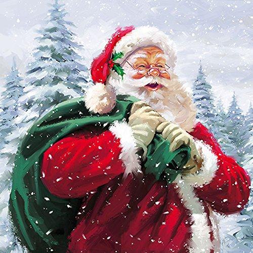 Ambiente Serviette Weihnachten Motiv: Ho Ho Ho Weihnachtsmann 20 Servietten pro Packung